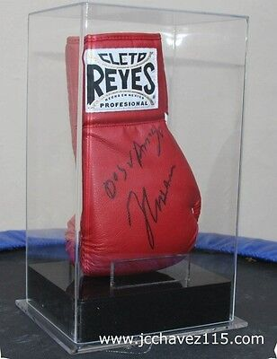 Julio Cesar Chavez Signed Glove. Includes Acrylic Display Box & Certificate.