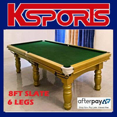 Pub Size Pool Table 8Ft Slate Billiard Snooker Table With Table Tennis / Poker T