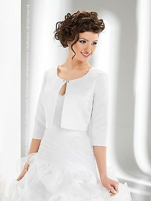 New Women Wedding Satin Shrug Bridal Bolero/jacket/coat 3/4 Length Sleeve S-Xxxl