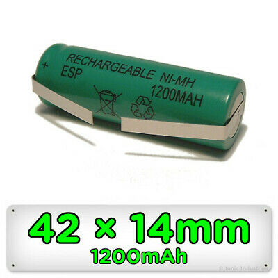 Toothbrush Replacement Battery for Braun Oral-B 42mm x 14mm Ni-MH Rechargeable