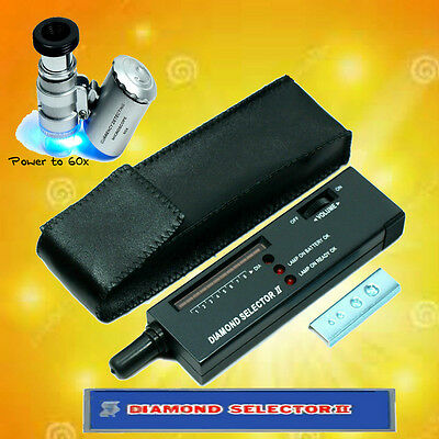 Electronic Diamond Tester With 60X Lighted Loupe - JEWELERS SPECIAL