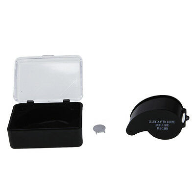 40x 25mm Glass Led Light Magnifying Magnifier Jeweler Eye Jewelry Loupe Loop USA