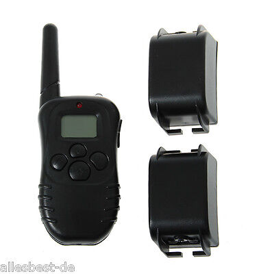 Rechargeable Shock Vibra Remote LCD Dog Training Collar For Small Medium 2 dogs