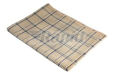 RVFM 180cm x 70cm Large Weave Cream Rug Carpet Canvas Backing 3.3 Holes/Inch