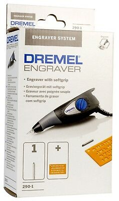 DREMEL Engraver 290 Power Tool - Glass Metal Wood Plastic 850469