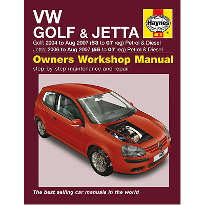 New Haynes Manual VW Golf Jetta 04-07 Car Workshop Repair Book 4610