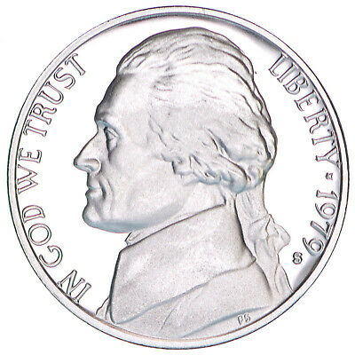 1979 S Jefferson Nickel Type 2 Clear S Gem Deep Cameo Proof Coin