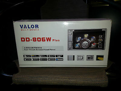 New Valor Multimedia DD-806W Double Din Multimedia Receiver, Built in Bluetooth