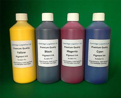 NON OEM HP Compatible Cartridge & CISS Refill Pigment Ink 4 x 500ml