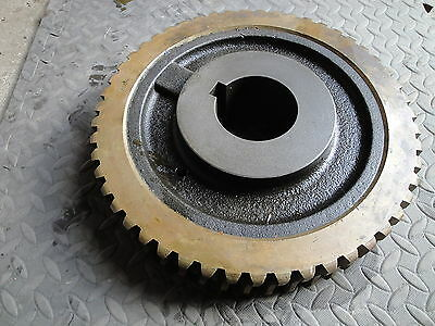"Large Brass / Steel Worm Gear 51 Teeth   13"" Dia 75lbs -- 7282  512650  NEW"