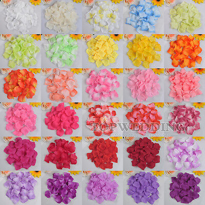 500/1000/2000 Silk Flower Rose Petals Wedding Party Table Confetti Decorations