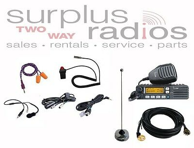 ICOM F5021 VHF 128CH High Power Race Truck Car Radio package Offroad Road Racing