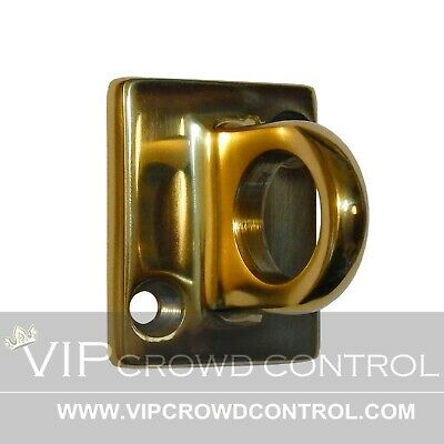 Rope Stanchion Wall Plate, Gold Finished, Vip Crowd Control