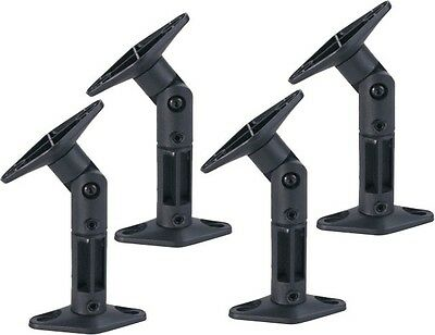 4 Pack Universal Ceiling Wall Satellite Speaker Mount Brackets Home Theater Bose