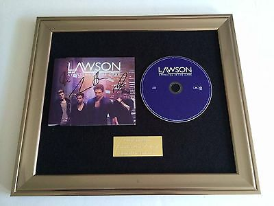 Signed/Autographed Lawson - Standing In The Dark Framed Cd Presentation.