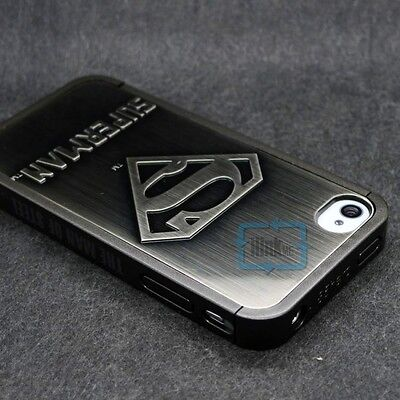 Deluxe Superman Symbol Aluminum plating Hard Back Case Cover for iPhone 4 4G 4S