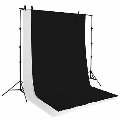 Black White Photo Background Backdrop Photography Video Studio Support Stand Kit