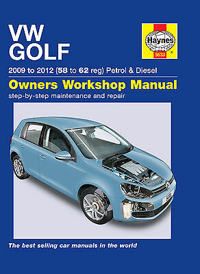Haynes VW Golf Mk 6 Workshop Manual 2009 -2012 Brand New Release Petrol & Diesel