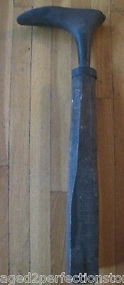 Antique 19c Wrought Iron Cobbler Tool blacksmith hammered cast old shoe form