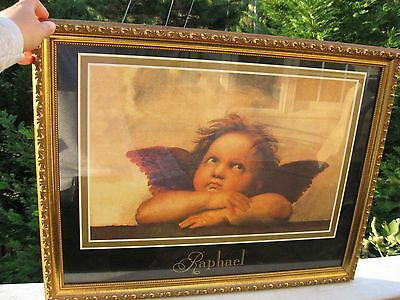 "Collectibles Picture ""Thinking Angel"" by Raphael (print) Framed .Nice gift"