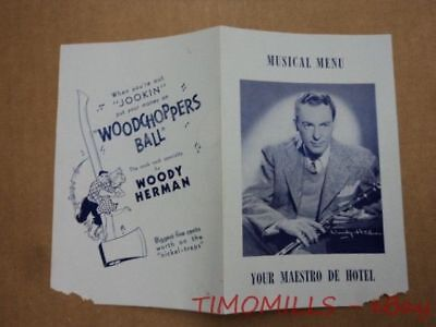 c.1940 Woody Herman Decca Records Jazz Brochure Vintage Woodchopper's Ball More