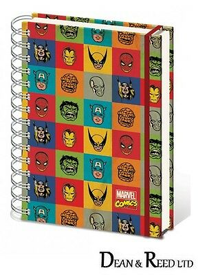 Marvel Comics Faces Retro A5 Wiro Notebook By Pyramid