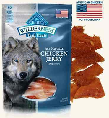 Blue Buffalo Wilderness Chicken Dog Jerky Treats Healthy Natural Grain Free USA