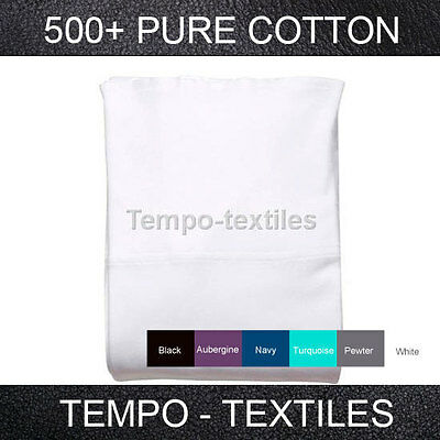 500TC 100% Egyptian Cotton Collection 40cm Deep Wall Fitted Sheet - 6 Colours