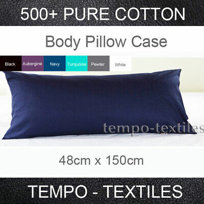 1PC 500TC 100% Egyptian Cotton long/Full/Body Pillow Case Cover 150*48-6 Colours