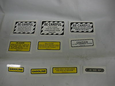 IHC International Farmall Model 340 Gas Tractor Decal Set - NEW FREE SHIPPING