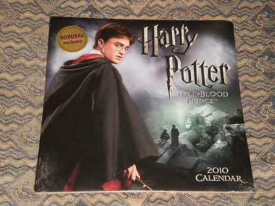New Sealed HARRY POTTER AND THE HALF BLOOD PRINCE 2010 Photo book wall Calendar