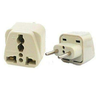 Travel Universal Plug Adapter Type C for Europe, Russia, UAE - 2 Pack