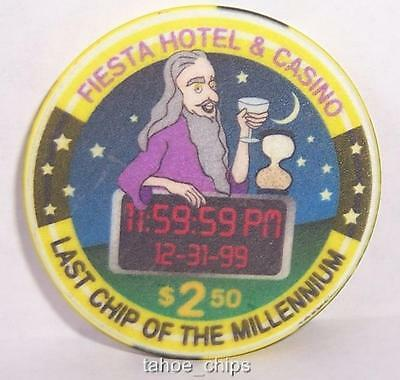 Fiesta Casino Chips Last Chip Of The Millennium $2.50 Chip Las Vegas Nevada