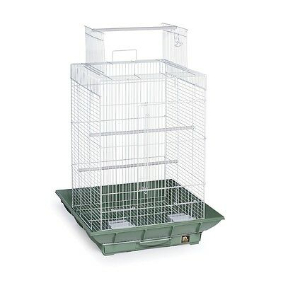 Prevue Hendryx Clean Life Playtop Cage Green & White - SP851G-W