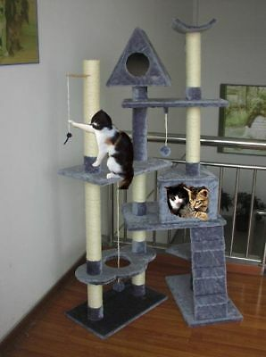 Superb Extra Large 8 Level Cat Scratching Post Activity Centre Scratcher