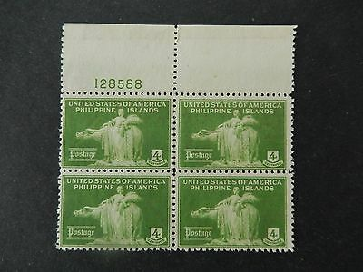 Philippines stamp American Occupation Block of 4 no gum Never Hinged