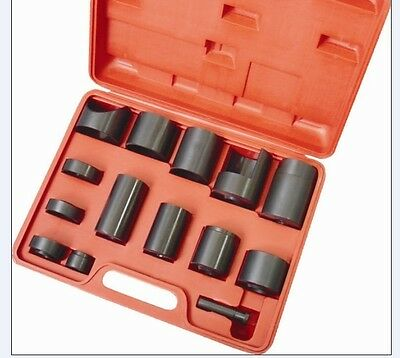 14 PCS MASTER BALL JOINT ADAPTOR Pro KIT FORD GM DODGE INSTALLER REMOVER P373010