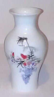 Fine Chinese Vase Flower and Red Birds
