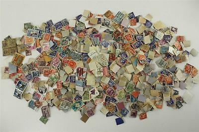 Vintage Paper Cancelled US & Foreign Stamps Box Lot Good Starter Collection