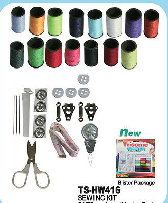 Sewing Kit Thread Spool Needle Measure Tape Pins Scissor Button Thread Pin 31pc