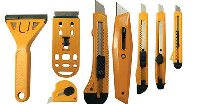 Utility Cutter Set Snap-Off Razor Knife Scraper Carton Box Knife Envelope Opener