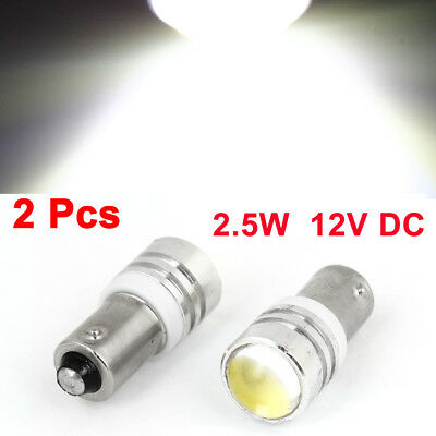 2 x BA9S H5W White Projector Lens LED Turning Tail Lamp Bulb 2.5W for Car
