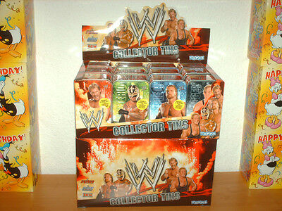 Wrestling WWE - Collector Tins 24 Dosen - Power Chipz - RAW - Smack Down - ECW