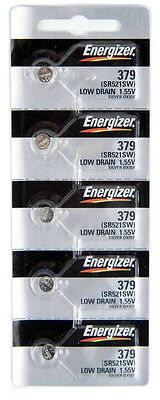 Energizer 379 (SR521SW) Silver Oxide Watch Batteries (1 pack of 5)