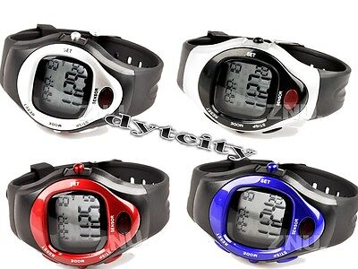 Digital Chronograph Heart Rate Calories Tester Alarm Stopwatch Time Wrist-Watch