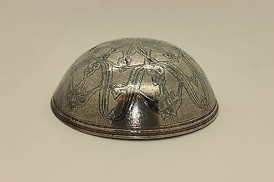 Antique Original Perfect Silver Niello Greek Bowl