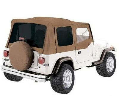 88-95 JEEP WRANGLER OEM SOFT TOP REPLACEMENT w/ Tinted DOOR SKINS (SPICE) 99417