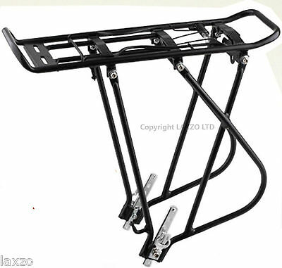 "HEAVY DUTY Bicycle cycle bike rear Pannier rack carrier 20kg 26 27"" luggage"