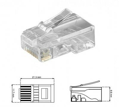 10 x RJ45 CRIMPSTECKER CRIMP-STECKER 8P8C TELEFON ISDN