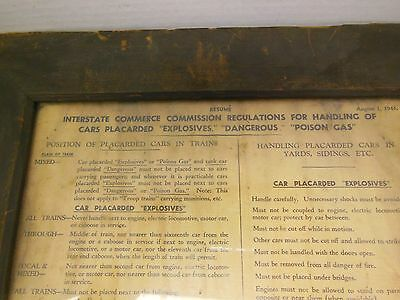 Vintage B&O RY ICC Guide For Handling Hazardous Contents On Trains 1943